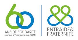 Logo d'Entraide et Fraternité - 60 ans
